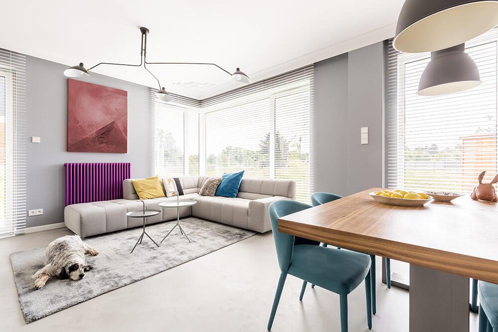 Cute loft apartment living room