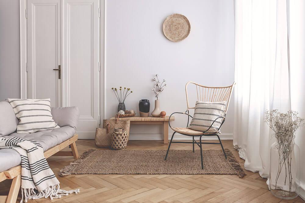 Simple modern loft apartment with neutral color scheme